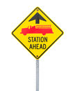 Fire Station Ahead Sign. Stock Photography - 29545942
