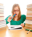 Studying Hard Royalty Free Stock Photo - 29551255