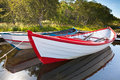 Floating Wooden Boats With Reflection In A Water Royalty Free Stock Photography - 29561747