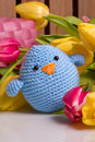 Decoration With Chick And Tulip Royalty Free Stock Image - 29563816