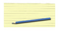 Yellow Lined Paper And Pencil Stock Photography - 29573832
