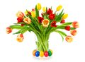 Gorgeous Bouquet Of Tulips In A Vase Royalty Free Stock Photography - 29576827