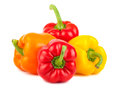 Red, Yellow And Orange Peppers Stock Image - 29577371