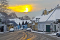 Village Of Grinzing In Early Morning Light In Wintertime Royalty Free Stock Image - 29587666