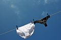 Panties Hanging On Washing Line To Dry Stock Photography - 29595102