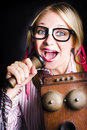 Nerdy PR Business Person Making Announcement Royalty Free Stock Photography - 29598547