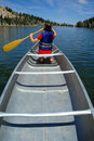 Canoeing At The Lake Stock Photos - 2968913