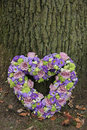Heart Shaped Sympathy Flowers Stock Images - 29606004