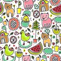 Cute Colorful Seamless Childish Pattern Royalty Free Stock Photos - 29606528