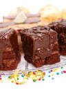 Closeup View Of Cake With A Chocolate Gloss On Plate Royalty Free Stock Image - 29609796