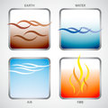 The Four Elements: Earth, Water, Air And Fire Stock Photography - 29610732