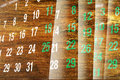 Calendar Pages With Wood Texture Stock Photo - 29620230