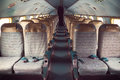 Interior Of An Old Plane Royalty Free Stock Photo - 29620345
