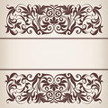 Vintage Border Frame Decorative Ornate Calligraphy Vector Royalty Free Stock Photography - 29627647
