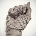 Man Hand Tied With Wire Stock Image - 29630311