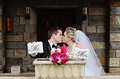 Bride And Groom Kissing Royalty Free Stock Photo - 29643675