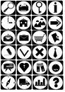 Vector Black Icons On Isolated Stock Photos - 29644323