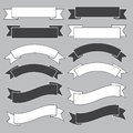 Old Ribbon Banner ,black And White. Royalty Free Stock Photo - 29647195
