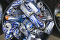Metal Cans In Bin Royalty Free Stock Image - 29660386
