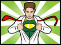 Superhero Transformation Royalty Free Stock Image - 29661556