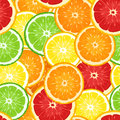 Vector Seamless Background With Citrus Fruits. Royalty Free Stock Photography - 29669327