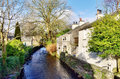 Tree Lined Stream In Cartmel, Cumbria Royalty Free Stock Photo - 29672375