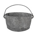 Old Gray Metal Cooking Pot Isolated. Royalty Free Stock Images - 29675079