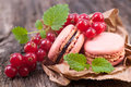 Macaroons With Redcurrant Royalty Free Stock Photos - 29682338