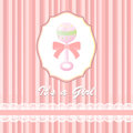 Baby Shower Card For Baby Girl, With Rattle Royalty Free Stock Images - 29684099