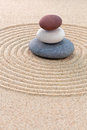 Three Coloured Round Pebbles Zen Garden Stock Photo - 29688460