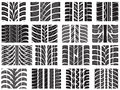 Set Of Various Tire Treads Stock Image - 29690291
