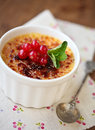 Creme Brulee (cream Brulee, Burnt Cream) Royalty Free Stock Image - 29696016