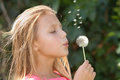 Girl With Dandelion Royalty Free Stock Images - 29712799