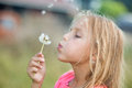 Girl With Dandelion Royalty Free Stock Photos - 29713208