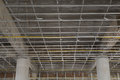 Suspended Ceiling System Under Reconstruction Building Royalty Free Stock Photos - 29724938