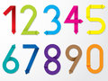 Colol Origami Number Set Royalty Free Stock Photo - 29732435