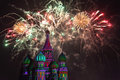 Fireworks Explode Over St. Basil Cathedral Stock Images - 29733944