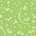 Seamless Pattern With Birds, Flowers And Hearts Royalty Free Stock Photo - 29734515