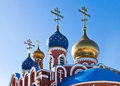 Cupolas Of Russian Orthodox Church Stock Images - 29739394