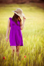 Hiding Behind Her Hat Stock Photo - 29750030