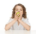 Girl With Green Apple Stock Photo - 29751910