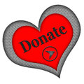 Donate Button Heart Shaped Stock Photo - 29763280
