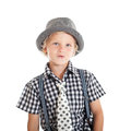 Portrait Of Blond Boy Wearing A Hat Royalty Free Stock Photo - 29767025