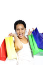 Laughing Woman With Colourful Shopping Bags Stock Photos - 29780393
