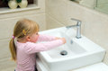 Girl Washing Her Hands Stock Photos - 29780953