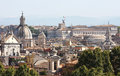 View From The Passeggiata Di Gianicolo At Rome In Italy Royalty Free Stock Photo - 29784945