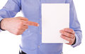 Businessman Holding Blank Sheet Of Paper. Stock Image - 29789141