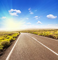 Asphalt Road To The Sun Royalty Free Stock Photo - 29789795