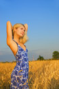 Girl In The Field Royalty Free Stock Photos - 2986228