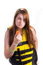 Girl Lifejacket And Whistle Stock Photography - 2986952